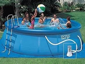 Kit Entretien Piscine Gonflable : kit piscine hors sol autoportante intex easy set ronde 488m x 122cm avec filtration d bit ~ Voncanada.com Idées de Décoration