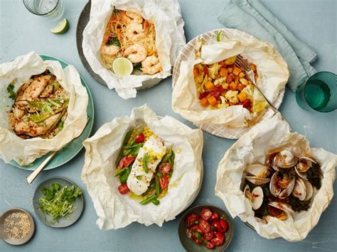 healthy easy to cook dishes healthy parchment paper dinners healthy meals foods and recipes tips food network food