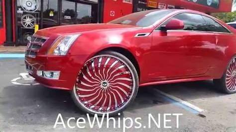 acewhipsnet red cadillac cts coupe   forgiatos