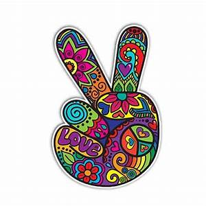 MeganJDesigns-Hippie-Peace-Sign-Hand-Sticker-Colorful ...