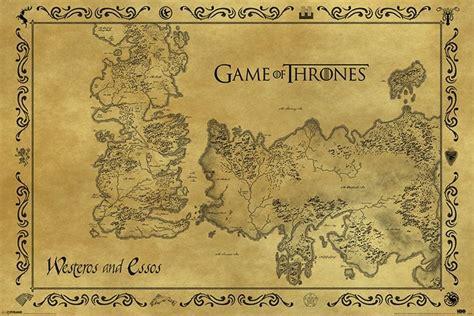 le de bureau vintage of thrones carte de westeros antique poster