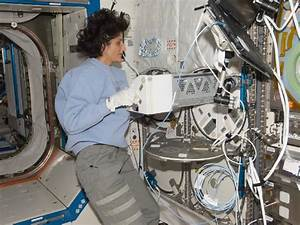 NASA - Astronaut Suni Williams With MELFI-2