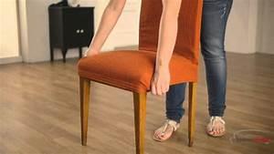 housse pour chaise a dossier youtube With deco cuisine avec chaise haut dossier salle a manger