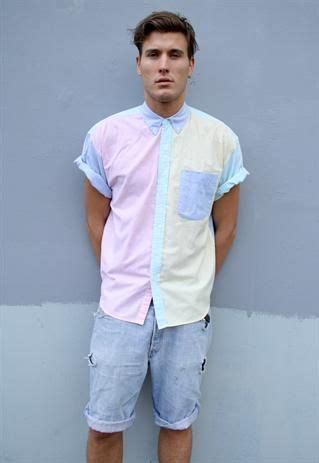 vintage pastel block shirt   pastel menswear