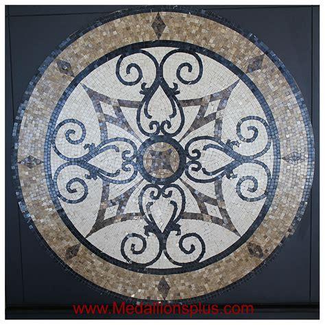 """Kristine Ii, 60"""" Polished Mosaic Floor Medallion"""
