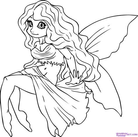 step    draw  cartoon fairy