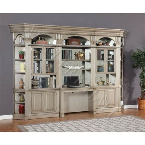 Bookcases Wall Units by Parchment 6 Desk Bookcase Credenza Wall Unit Ebay