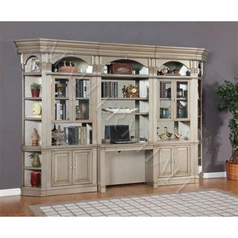 Bookcase Wall Units by Parchment 6 Desk Bookcase Credenza Wall Unit Ebay