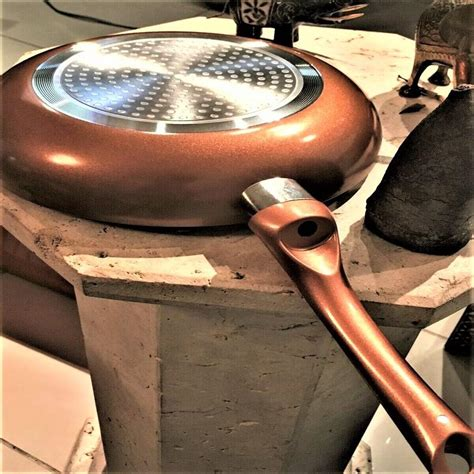 copper fry pan nonstick induction skillet healthy cookware  inches premier novelties