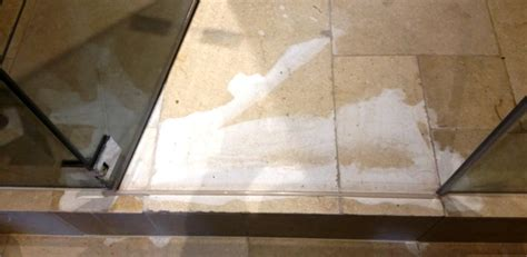 acid damaged limestone tiles restored to new in wapping