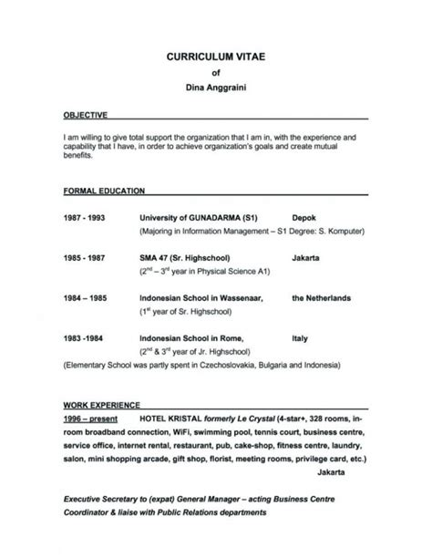 best objective for resume for students objectives for resumes for students sles of resumes