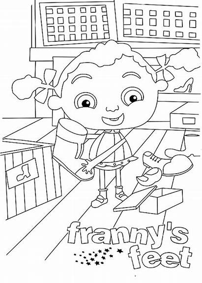 Coloring Feet Franny Pages Frannys Printable Coloriage