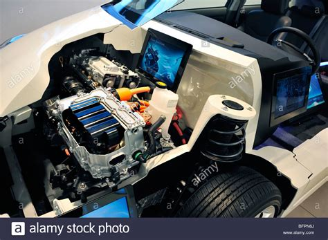 Gas Electric Hybrid by Toyota Prius Gas Electric Hybrid Engine Stock Photos