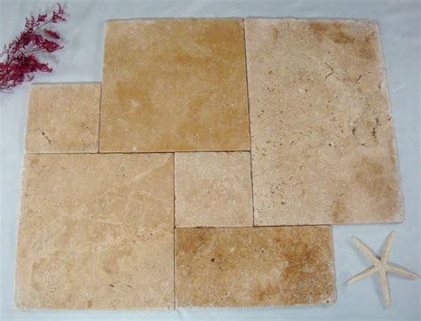 french style travertine tile layout concrete floors
