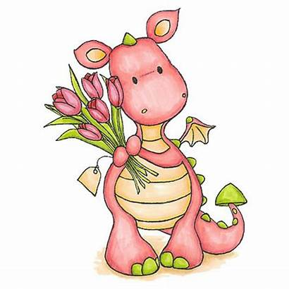 Dragon Clipart Stamps Digi Animals Cliparts Girly