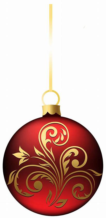 Ornament Christmas Clipart Ball Transparent Clipground Bluered