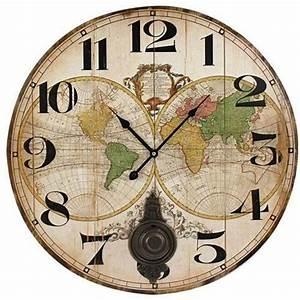 Maison Du Monde Horloge Murale : horloge murale avec pendule 58 cm monde achat vente horloge cdiscount ~ Teatrodelosmanantiales.com Idées de Décoration
