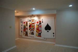 Poker playing cards wall murals hand painted by tom taylor for Best brand of paint for kitchen cabinets with monopoly game wall art