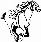 Horse Coloring Racing Race Clip Horses Clipart Derby Blank Kentucky Sea Otter Jockey Cartoon Cliparts Chun Clipartmag Happiness Stencil Riding sketch template