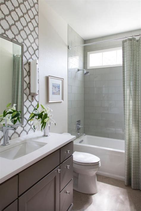 traditional guest bath  decorative tile backsplash hgtv