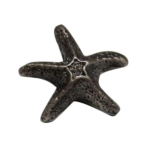 Starfish Cabinet Knob Brushed Nickel by Design House Cubist 1 44 In Brushed Nickel Cabinet