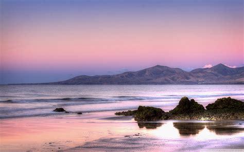 purple morning sky  hd desktop wallpaper  dual