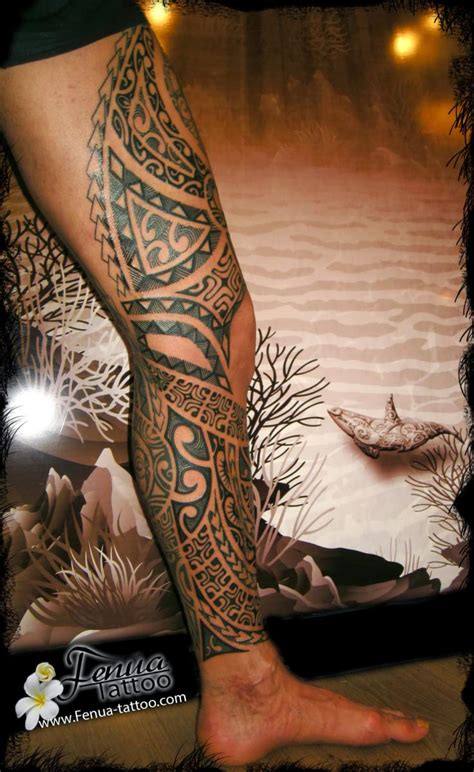 Tatouage Polynésien Du Jour  Tatouage Polynésien