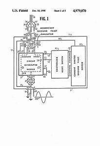 patent us4979070 automatic reset circuit for gfci With ground fault circuit interrupter gfci explained