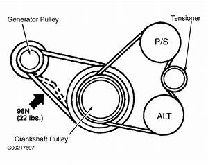 2000 Mitsubishi Galant Serpentine Belt Routing And Timing