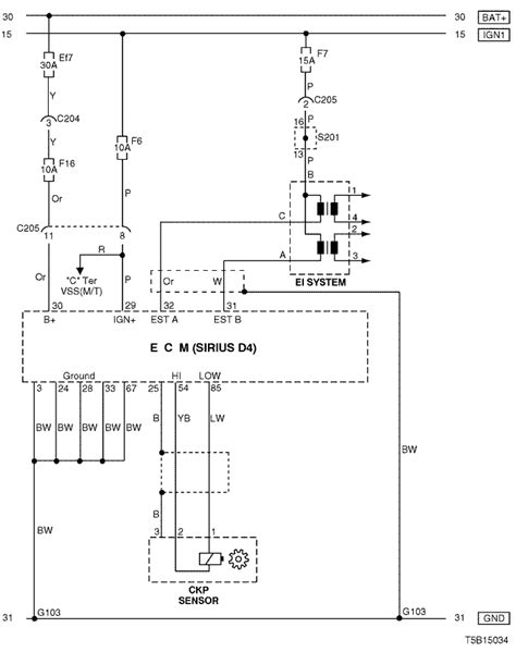 Daewoo O2 Sensor Wiring by Electrical Wiring Diagram 2005 Kalos 4 Ecm Engine