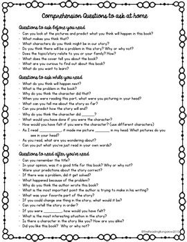 comprehension questions to ask your child at home by the 326 | original 2210727 2