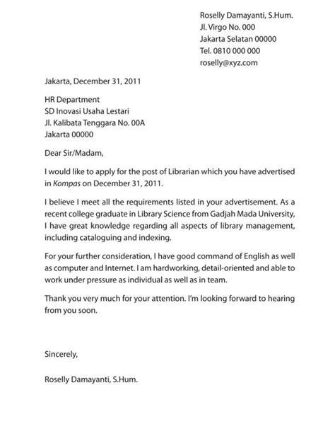 Surat Lamaran Kerja Bahasa Inggris Bagian It