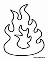 Fire Flames Coloring Pages Flame Printable Template Fireplace Drawings Pit Colouring Torch Cartoon Electric Fjord Designlooter Truck Pitbull Via Sketch sketch template