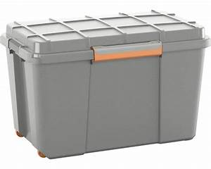 Kunststoffbox Mit Deckel 100 L : kunststoffbox atlas xl mit deckel 106 liter grau orange bei hornbach kaufen ~ One.caynefoto.club Haus und Dekorationen