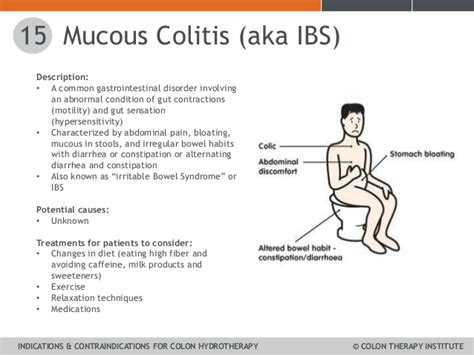 mucus in stool with blood and abdominal unit 4 indications contraindications cti