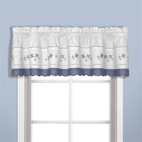 united curtain gingham blue kitchen curtain window treatments
