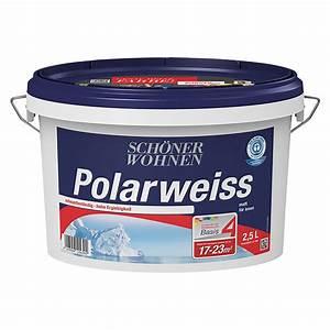 Schöner Wohnen Polarweiss : sch ner wohnen wandfarbe polarwei basismischfarbe 2 5 l ~ Watch28wear.com Haus und Dekorationen
