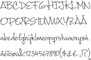 Cute Girly Handwriting Font Alphabet