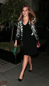 Princess Beatrice is glamorous in a floral blazer over an LBD