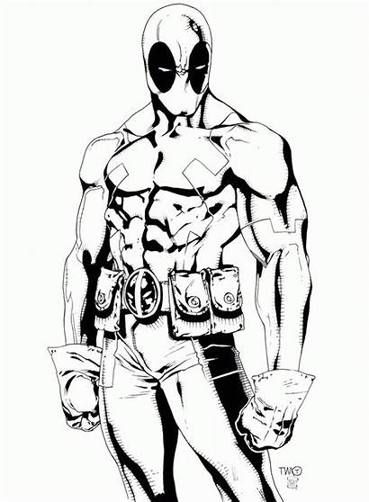 Coloring Deadpool Pages Printable Popular
