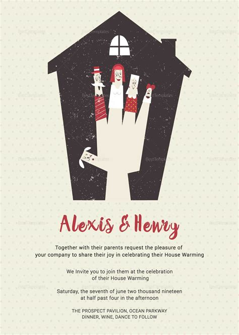 thrilling housewarming invitation card design template