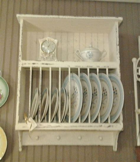 country cottage farmhouse primitive  slot plate rack  shelf order  color  finish