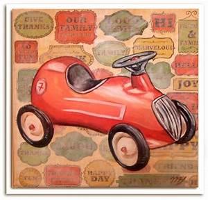 Voiture Enfant Vintage : tableaux pour enfants chambre gar on pinterest pour ~ Teatrodelosmanantiales.com Idées de Décoration