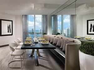 Banquette Salle A Manger : salle manger moderne 107 id es d 39 am nagement r ussi ~ Premium-room.com Idées de Décoration
