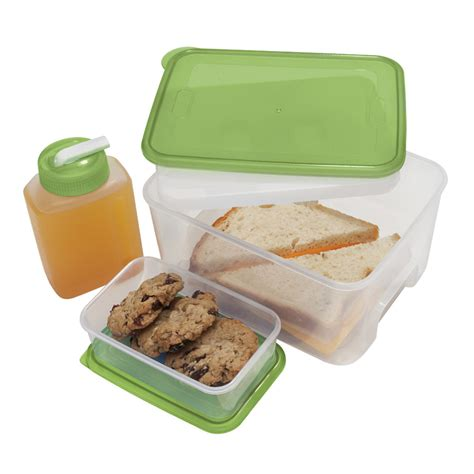 container cuisine oggi chill to go food container with drink bottle and