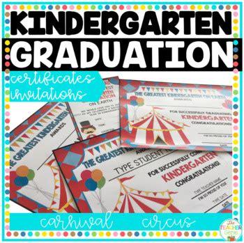 kindergarten graduation certificates carnival circus