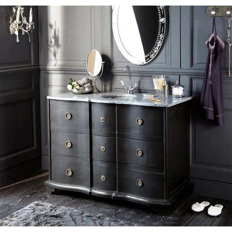 meuble vasque en bois noir et eugenie maisons du