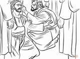 Blind Jesus Heals Coloring Born Printable Supercoloring Drawing Bible Sheets John Crafts Dot Puzzle Through sketch template