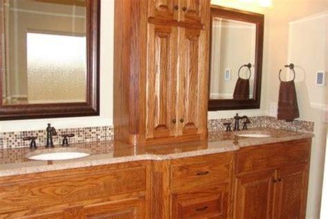 bathroom oak cabinets design pictures remodel decor