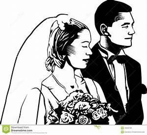 Vintage Bride And Groom Clipart